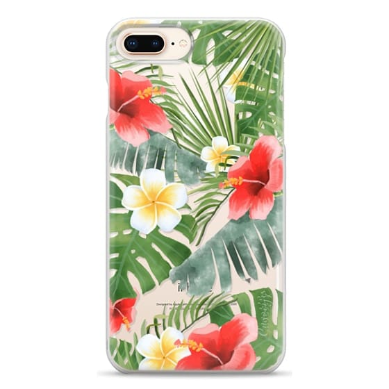 iPhone 8 Plus Cases - tropical vibe (transparent)