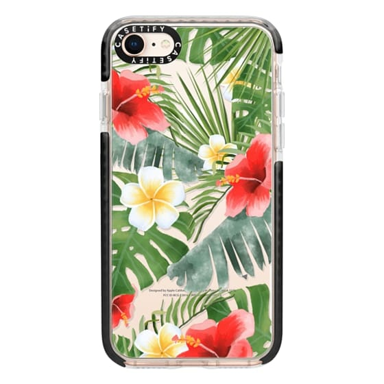 iPhone 8 Cases - tropical vibe (transparent)