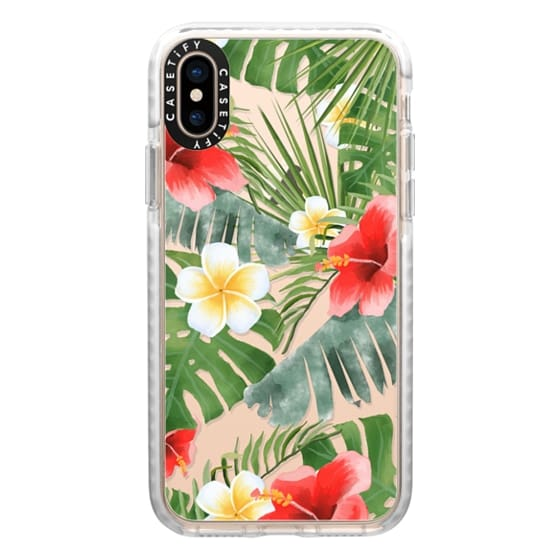 iPhone XS Cases - tropical vibe (transparent)