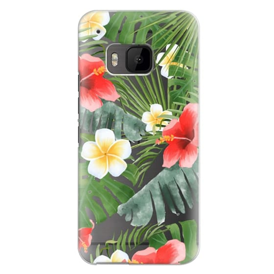 Htc One M9 Cases - tropical vibe (transparent)