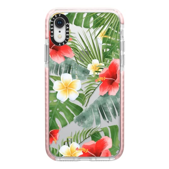 iPhone XR Cases - tropical vibe (transparent)