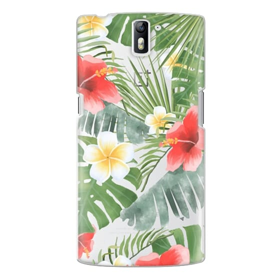 One Plus One Cases - tropical vibe (transparent)