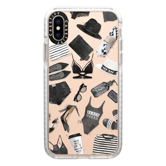 iPhone XS Cases - Black and white fashion