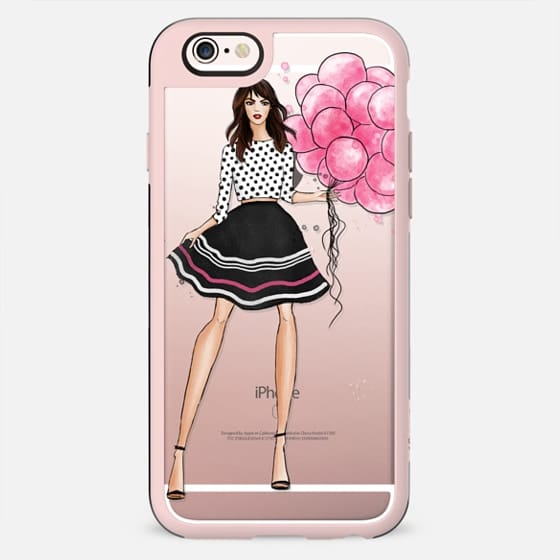 Birthday girl with pink baloons - New Standard Case