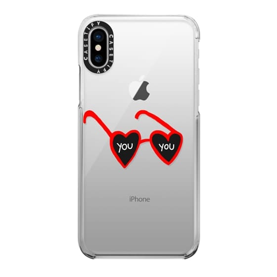 iPhone X Cases - I Heart You - Red [Valentine's Day]