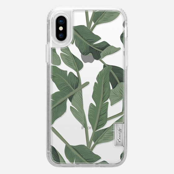 iPhone X Capa - Tropical '17 - Forest [Banana Leaves] Clear