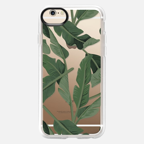 iPhone 6 Case - Tropical '17 - Forest [Banana Leaves] Clear