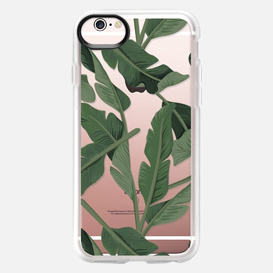 iPhone 6s Case - Tropical '17 - Forest [Banana Leaves] Clear