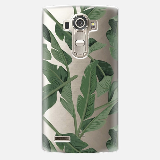 LG G4 Case - Tropical '17 - Forest [Banana Leaves] Clear