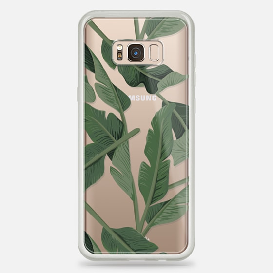 Galaxy S8+ Case - Tropical '17 - Forest [Banana Leaves] Clear