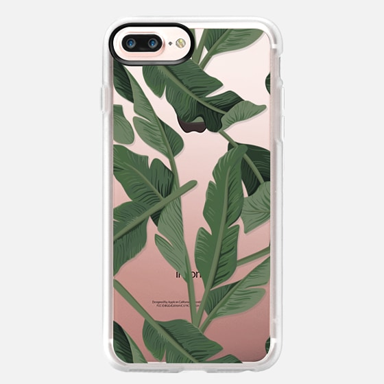 iPhone 7 Plus Case - Tropical '17 - Forest [Banana Leaves] Clear
