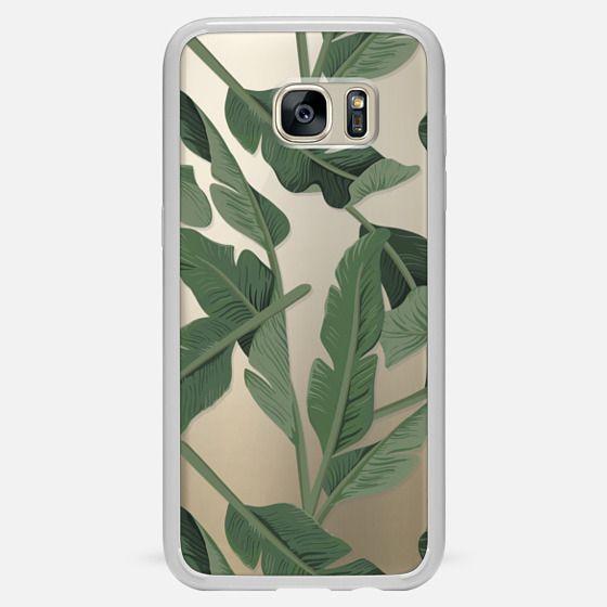Galaxy S7 Edge Capa - Tropical '17 - Forest [Banana Leaves] Clear