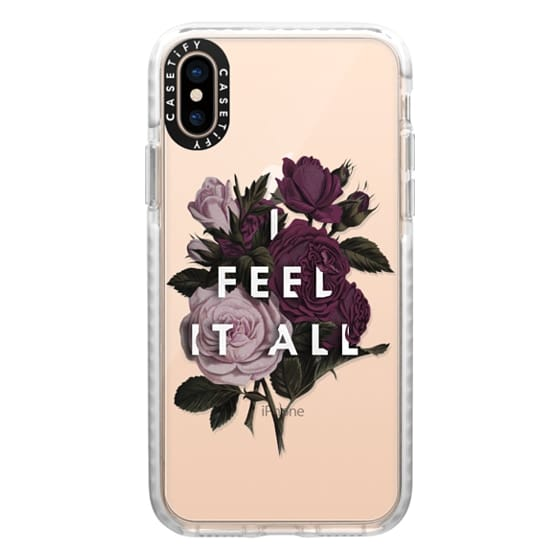 iPhone XS Cases - I Feel It All [Floral - Clear]