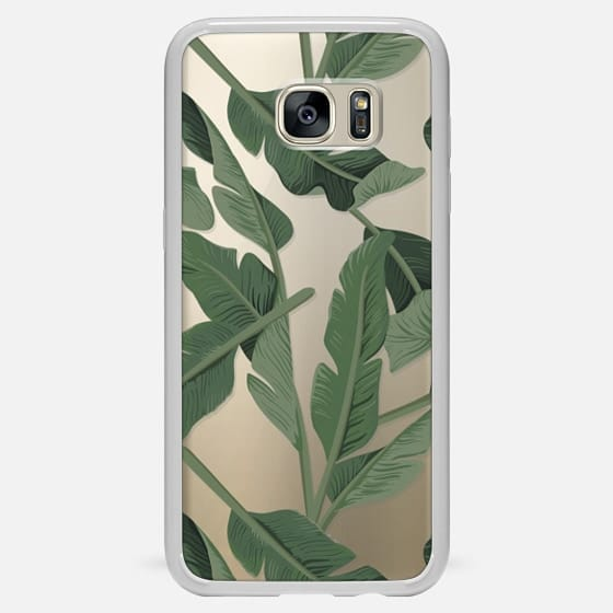 Galaxy S7 Edge Hülle - Tropical '17 - Forest [Banana Leaves] Clear