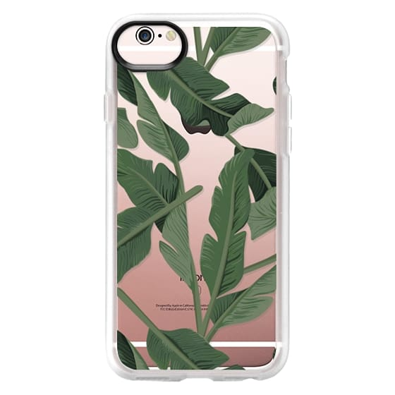iPhone 6s 케이스 - Tropical '17 - Forest [Banana Leaves] Clear