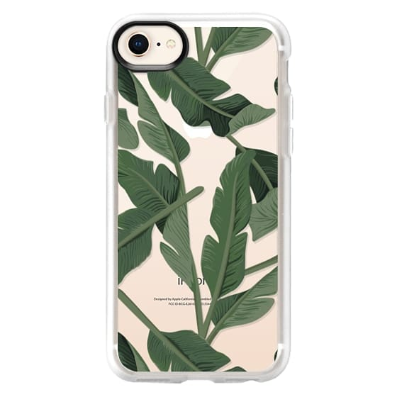 iPhone 8 Case - Tropical '17 - Forest [Banana Leaves] Clear