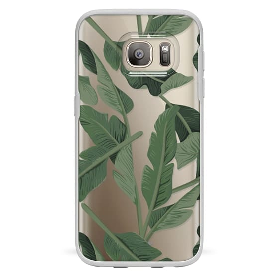 Galaxy S7 เคส - Tropical '17 - Forest [Banana Leaves] Clear