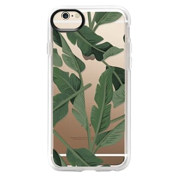 Grip iPhone 6 Case - Tropical '17 - Forest [Banana Leaves] Clear