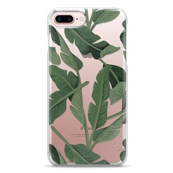 Snap iPhone 7 Plus Case - Tropical '17 - Forest [Banana Leaves] Clear