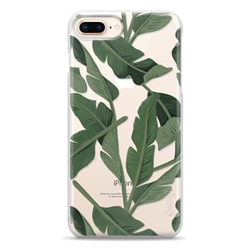 Snap iPhone 8 Plus Case - Tropical '17 - Forest [Banana Leaves] Clear