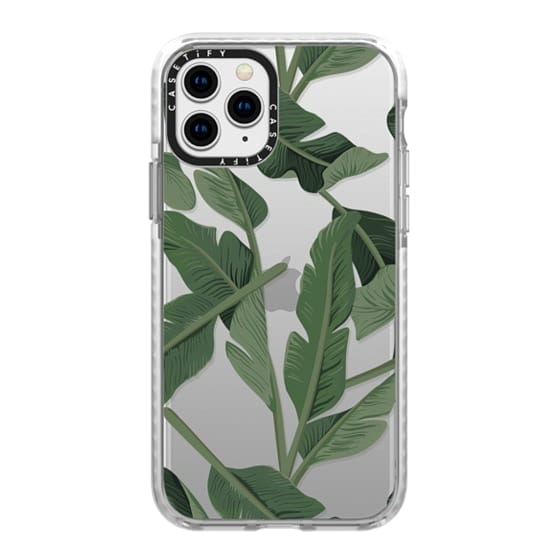 iPhone 11 Pro Cases - Tropical '17 - Forest [Banana Leaves] Clear