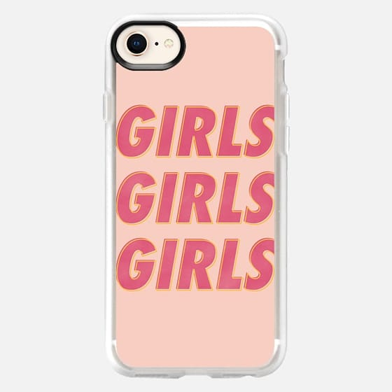 Girls Girls Girls [Peach] - Snap Case
