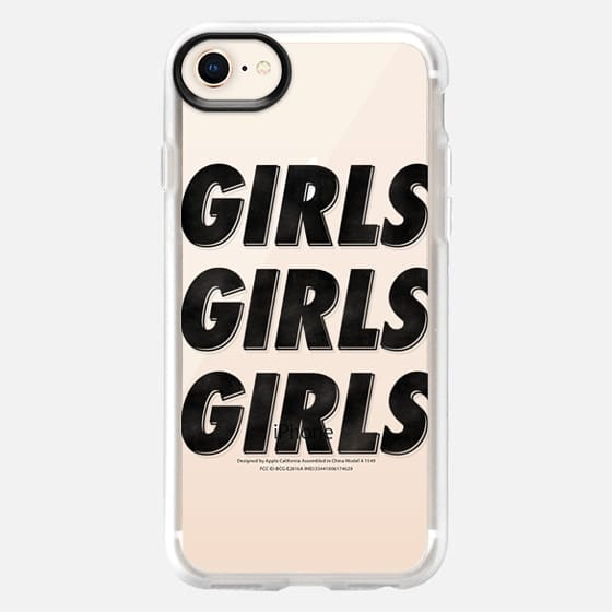 Girls Girls Girls [Black - Clear] - Snap Case