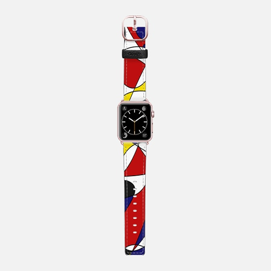 MONDRIAN AND GAUSS - Saffiano Leather Watch Band