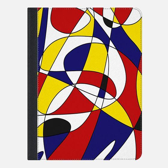 MONDRIAN AND GAUSS (Ipad) - iPad Folio Case