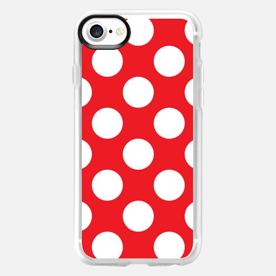Red & White Polka Dots Pattern - Wallet Case