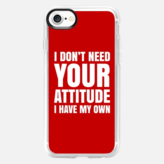 I DON'T NEED YOUR ATTITUDE I HAVE MY OWN (Red) - Wallet Case