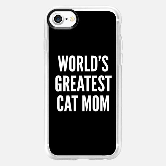 WORLD'S GREATEST CAT MOM (Black & White) -