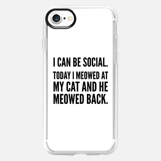 I Can Be Social Today I Meowed At My Cat And He Meowed Back - Wallet Case
