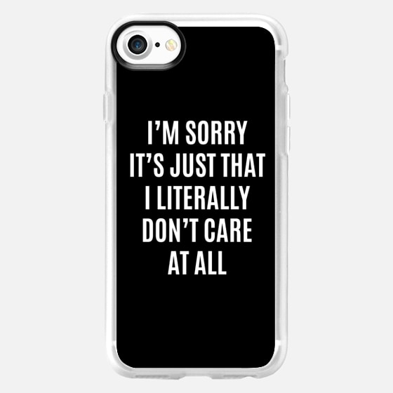 I'M SORRY IT'S JUST THAT I LITERALLY DON'T CARE AT ALL (Black & White) - Wallet Case