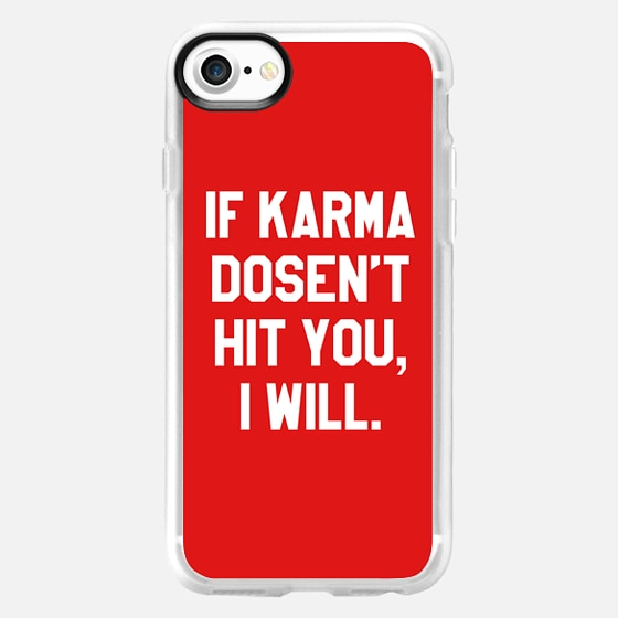 IF KARMA DOESN'T HIT YOU I WILL (Red) - Wallet Case