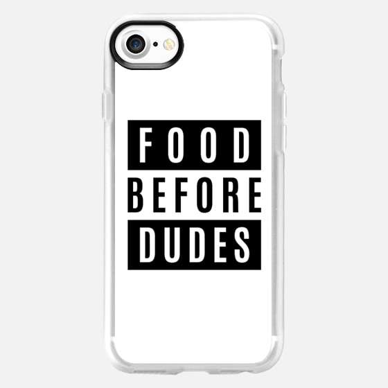 FOOD BEFORE DUDES WHITE - Wallet Case