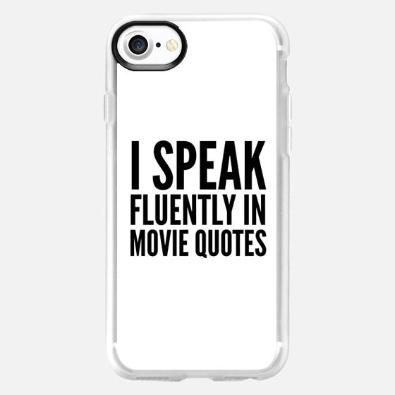 I SPEAK FLUENTLY IN MOVIE QUOTES - Wallet Case