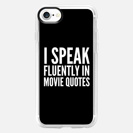I SPEAK FLUENTLY IN MOVIE QUOTES (Black & White) - Wallet Case
