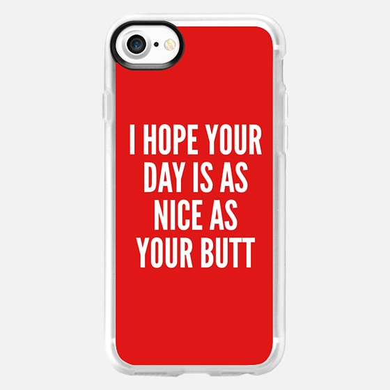 I HOPE YOUR DAY IS AS NICE AS YOUR BUTT (Red) - Wallet Case