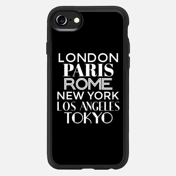 Cities of the World (Black & White) - Classic Grip Case