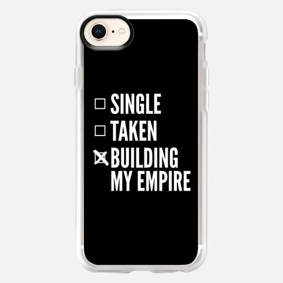 SINGLE TAKEN BUILDING MY EMPIRE (Black & White) - Snap Case