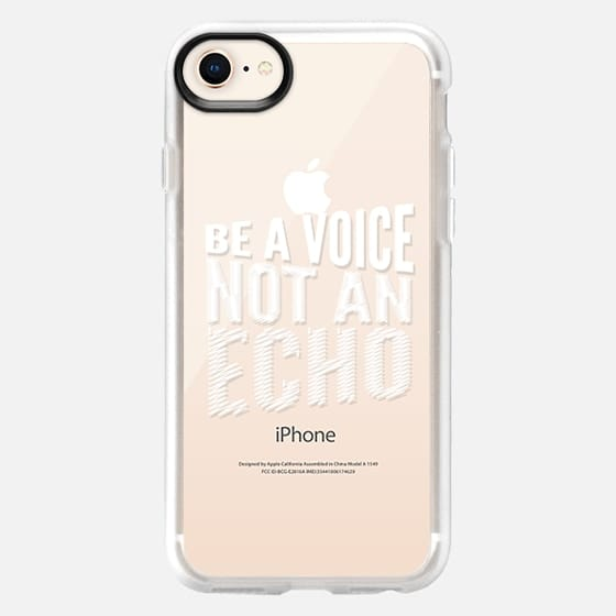 BE A VOICE NOT AN ECHO (White & Transparent) - Snap Case