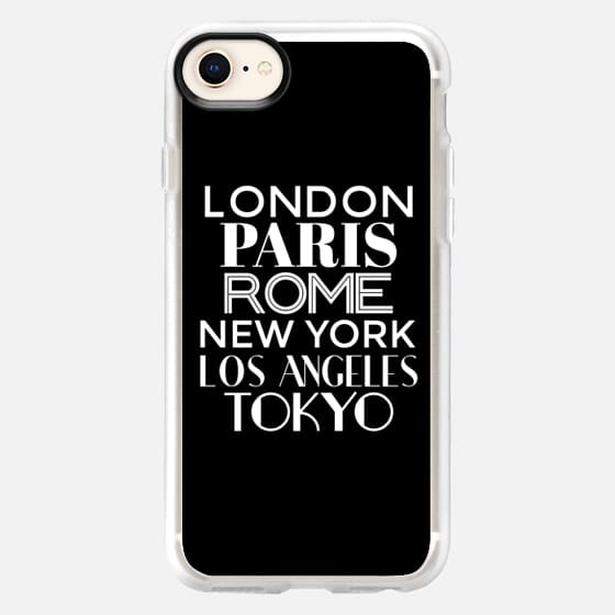 Cities of the World (Black & White) - Snap Case