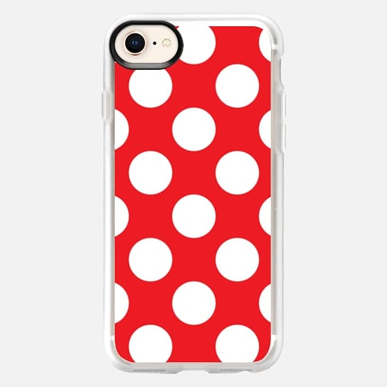 Red & White Polka Dots Pattern - Snap Case