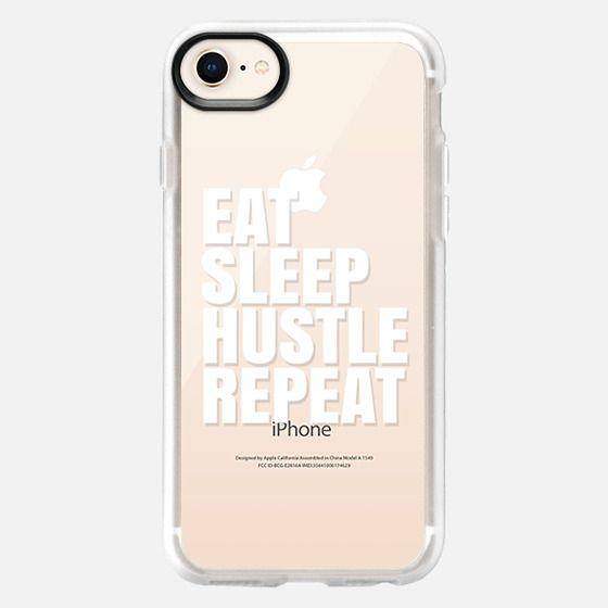 Eat Sleep Hustle Repeat (Transparent & White) - Snap Case