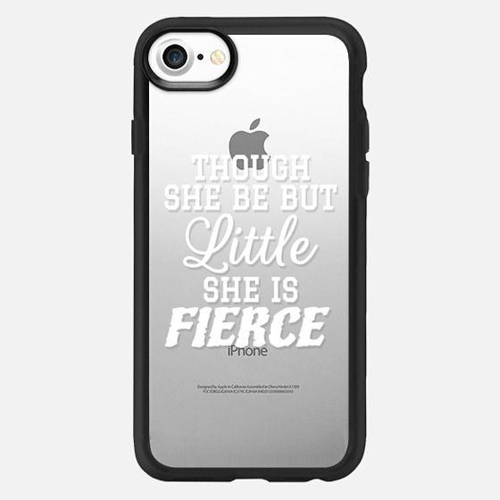 Little & Fierce - Though she be but little she is fierce - Classic Grip Case
