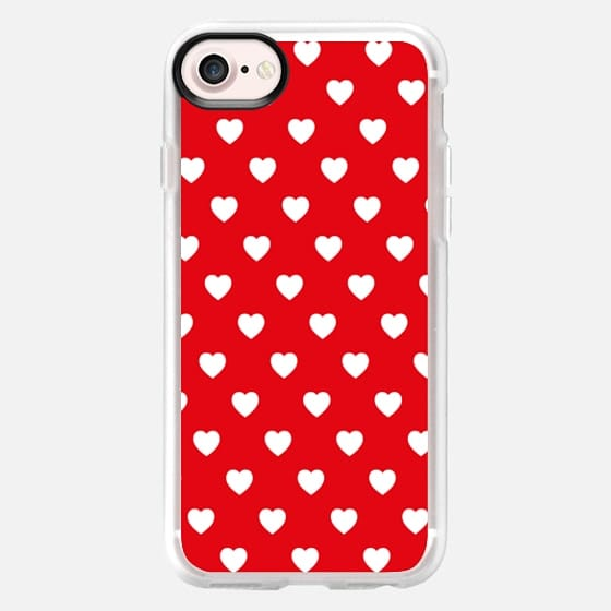 Red & White Hearts Pattern Valentine's Day Love -