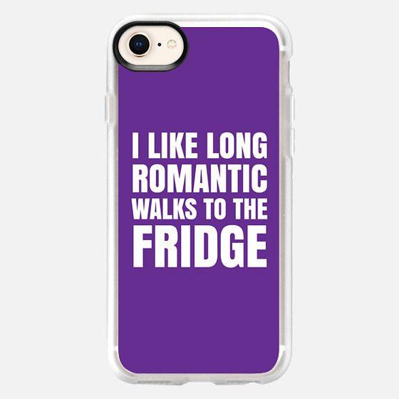 I LIKE LONG ROMANTIC WALKS TO THE FRIDGE (Purple) - Snap Case