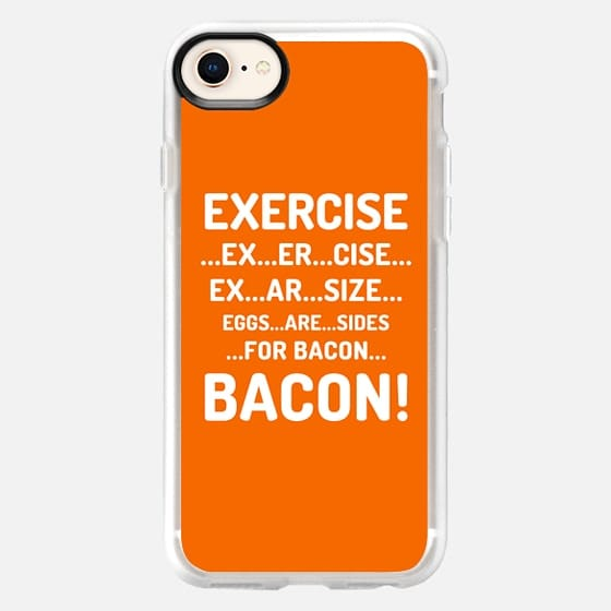EXERCISE EGGS ARE SIDES FOR BACON (Orange) - Snap Case