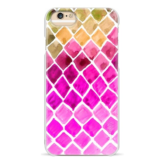 iPhone 6 Cases - Watercolor Ombre Honeycomb